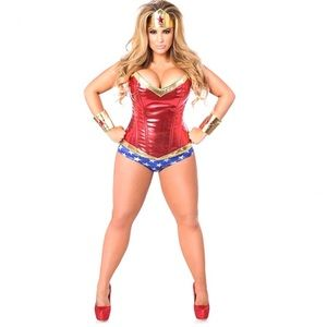 Daisy Top Drawer Superhero Corset Costume (D1)